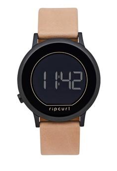Rip Curl black Daybreak Digital Midnight Leather Watch 9B86FAC0541BF2GS_1
