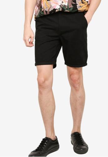 ZALORA BASICS black Tailored Chino Shorts D2A95AA237141EGS_1