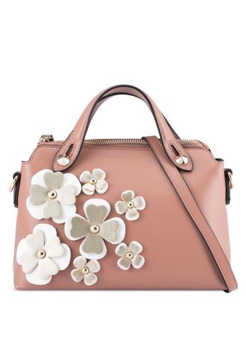 Christy Ng beige Xenia Nude Floral Handbag CH330AC0SPLUMY_1