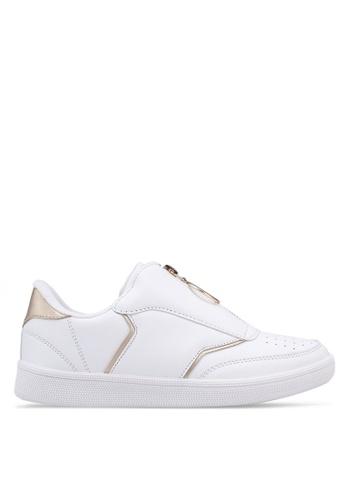 Rubi white and gold Copenhagen Zip Sneakers 92943SH43B9EDBGS_1