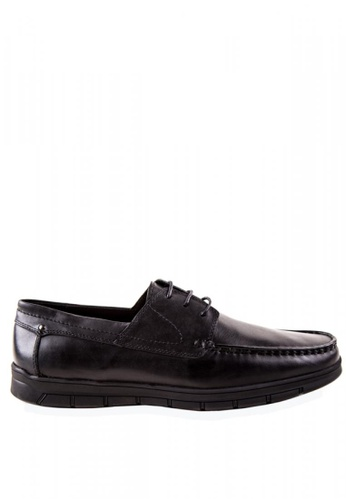 Otto black Lace up Derby Shoes 90D01SH1497DFBGS_1