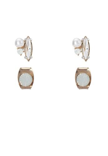 二入仿鑽珍珠耳環, esprit 工作飾品配件, 飾品配件