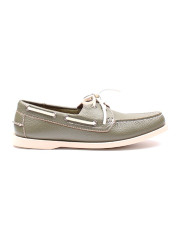 Moley green Premium Synthetic Leather Boat Shoe 72B28SH9D2F861GS_1