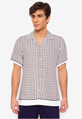 ZALORA BASICS 多色 Contrast Collar Contrast Trim Shirt 83F8BAA9FB737DGS_1