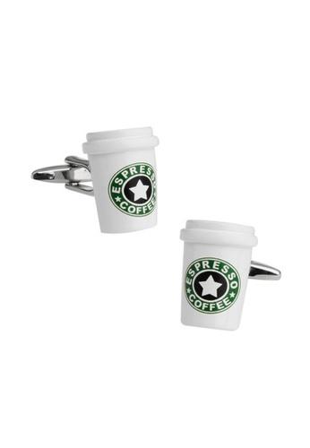 Splice Cufflinks white Coffee Cup Cufflinks SP744AC87ILOSG_1