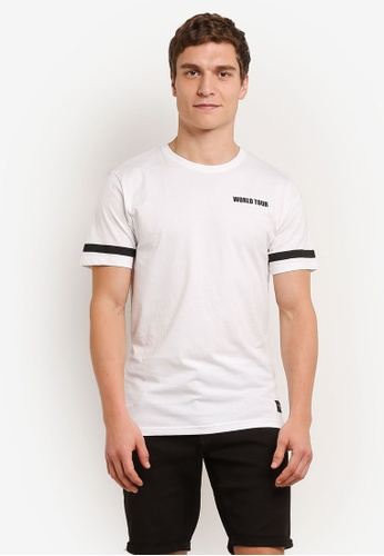 Only & Sons white Crosby T-Shirt ON662AA0S5P2MY_1