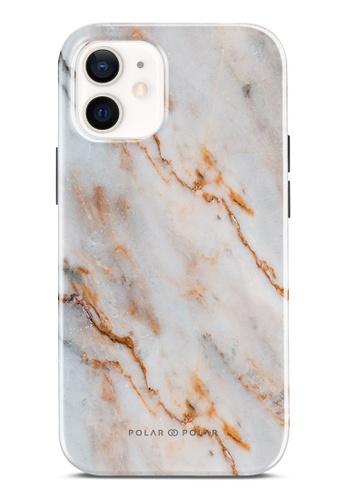 Polar Polar 褐色 奶油咖啡紋雙層光面手機殼 iPhone 12 mini C5B43AC5AEB56AGS_1