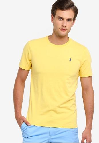 1a29cc5c1 Polo Ralph Lauren yellow Short Sleeve Crew Neck Slim T-Shirt  B5281AABCB0CF5GS 1