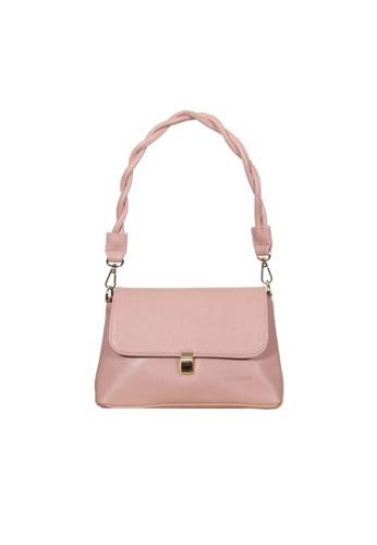 Verchini pink Verchini Twist Top Handle Bag 3C0F4AC34F5979GS_1