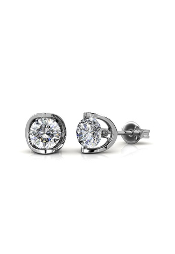 Her Jewellery silver Swarovski® Crystals - Charlotte Earrings  (18K White Gold Plated) Her Jewellery HE581AC0RCB9MY_1