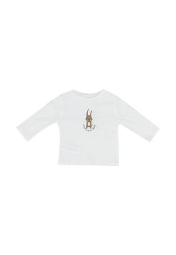 MANGO BABY white Bunny Top DC04CKA50EF9BAGS_1