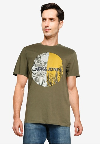 Jack & Jones green Jorstein Crew Neck T-Shirt 1F496AA68A767AGS_1