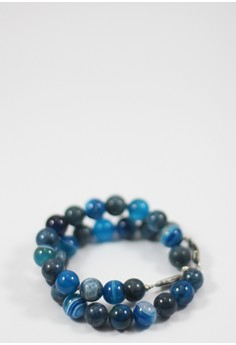 Chisico Blue Apatite and Agate Bracelet