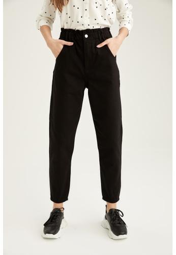 DeFacto black High Waist Cotton Trousers DDAD5AA59538EEGS_1
