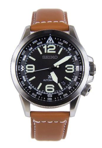 Seiko brown Seiko Prospex Jam Tangan Pria - Brown Silver Black - Leather Strap - SRPA75K1 Automatic SE382AC0VBWYID_1