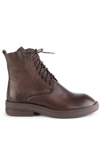 Twenty Eight Shoes Fashionable Lace Up Calfskin Boots T57520-2 DA8EFSH5C633AFGS_1