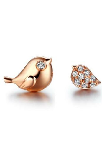 Vivere Rosse Chirping Birds Stud Earrings VI014AC13EPUMY_1
