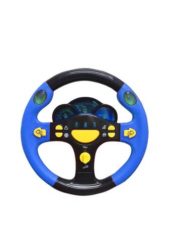 figoltoys Mainan Anak Setir Setiran Mobil Lampu Musik Racing Wheel DE8A9TH586414EGS_1
