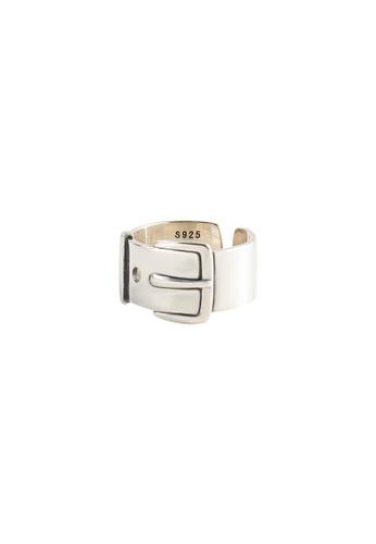 OrBeing white Premium S925 Sliver Geometric Ring 9B5BCAC73C7C9FGS_1