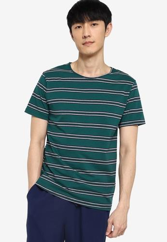 ZALORA BASICS multi Stripe Wide Neck T-Shirt 2C0F8AABD1D629GS_1