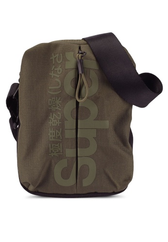 Superdry green Invisible Pouch Bag 2C281ACEBDA780GS_1