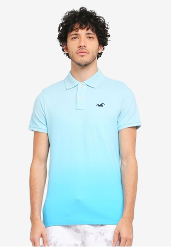 Hollister blue Ombre Polo Shirt HO422AA0T1BUMY_1