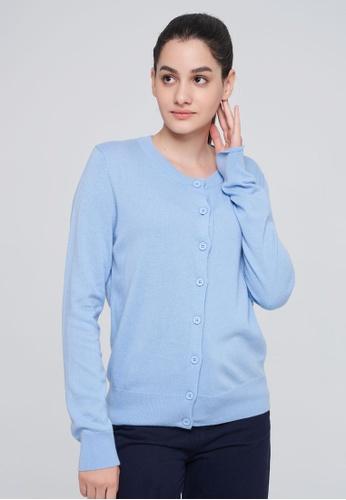 United Colors of Benetton blue Cashmere Blend Cardigan 1C8DEAA755C7DEGS_1