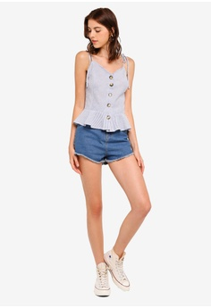 df00a5e721 47% OFF Brave Soul Jenigh Button Through Top With Ruffle Bottom S$ 46.90  NOW S$ 24.90 Sizes XS S M L