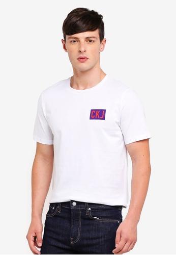 Calvin Klein 白色 Institutional Logo Reg Tee - Calvin Klein Jeans 8DC18AA12B4CABGS_1