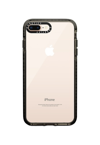 Casetify black Impact Protective Clear Case for iPhone 8+/ iPhone 7+ – Black 166ABACF1EE9C2GS_1