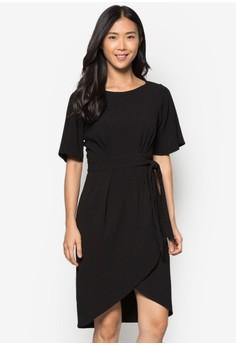 Tie Front Wrap Skirt Dress