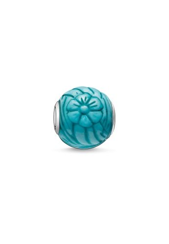 "THOMAS SABO blue and silver Bead ""summer flower"" 698C3AC878B1FAGS_1"