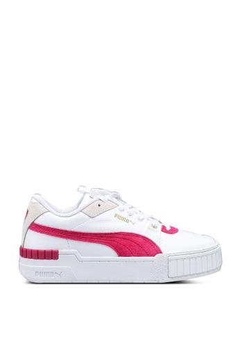 Puma 白色 Cali 休閒運動鞋 E2EEFSHF8F3EBCGS_1