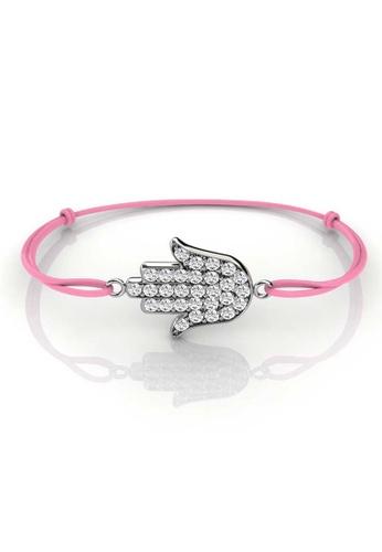 Her Jewellery pink Palm Bracelet (Pink)- Licensed Genuine Crystals from Swarovski® HE581AC0RCDMMY_1