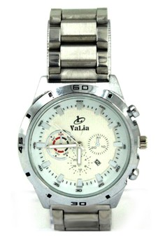 Valia Kyle Unisex White Stainless Steel Strap Watch 8162
