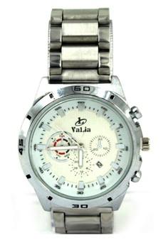 Valia Kyle Unisex White Stainless Steel Strap Watch 8162