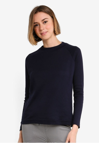 86aaca908f Shop UniqTee High Neck Long Sleeve Top Online on ZALORA Philippines
