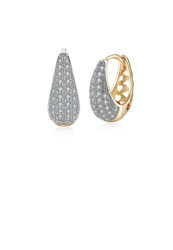Glamorousky white Brilliant Plated Champagne Gold Earrings with Cubic Zircon 179EFACC5F22E5GS_1