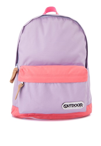 Outdoor Products purple Print Logo Series Backpack OU226AC0JYCWPH_1