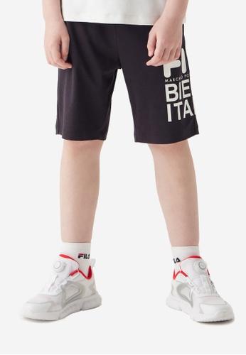 FILA navy FILA KIDS FILA BIELLA ITALIA Logo Bermuda Shorts 10-16yrs D0A55KA2D4AE29GS_1
