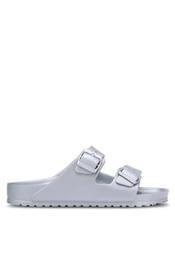 Birkenstock silver Arizona EVA Sandals BI090SH0RCNWMY_1
