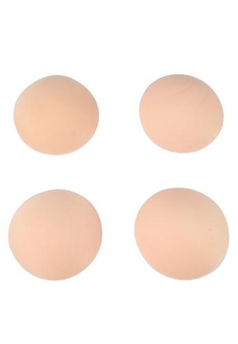 PINK N' PROPER beige Ultimate Round Pad Enhancer 2 pack 8416EUS4ACBE25GS_1