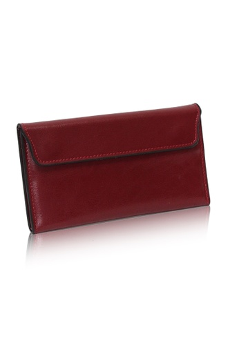 Dazz red Calf Leather Flap Magnetic Wallet - Red DA408AC0SIG2MY_1