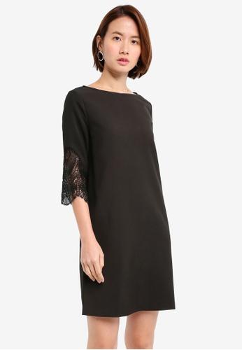 ZALORA black Lace Insert Panel Dress B6286AA420143BGS_1