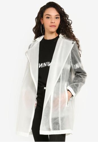 NA-KD 白色 雨衣外套 A526AAAD8CE23AGS_1