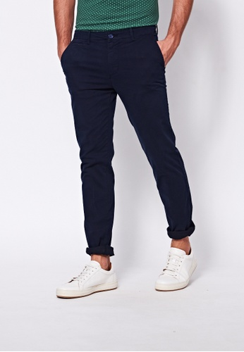 United Colors of Benetton blue Slim Fit Chinos 76F2DAA2F2BA08GS_1
