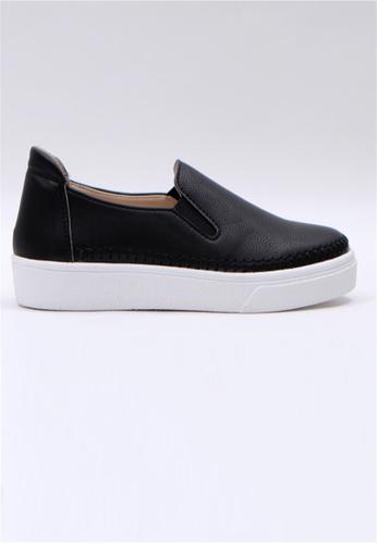 Crystal Korea Fashion 黑色 韓國制百搭舒適輕便休閒鞋 68DBCSHD3DCAB1GS_1