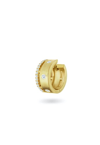 Aquae Jewels yellow Earring Cuff Rich & Bold 18K Gold and Diamonds - Yellow Gold 0B7BFACA1C6F7BGS_1