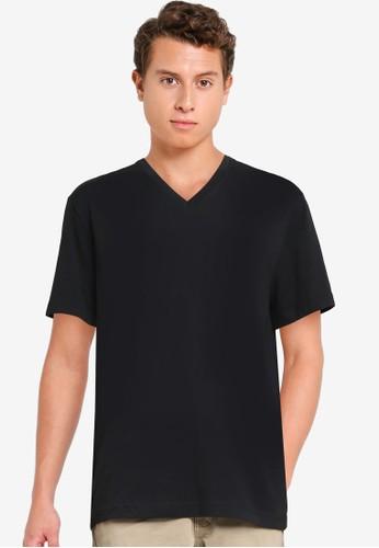 Banana Republic black Authentic V-Neck T-Shirt F5731AAE11AD15GS_1