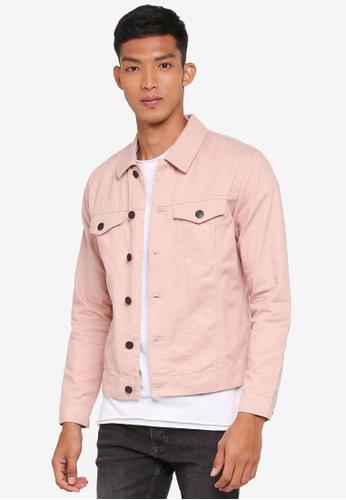 Only & Sons pink Rocker Denim Jacket A6DE4AA6F24B12GS_1